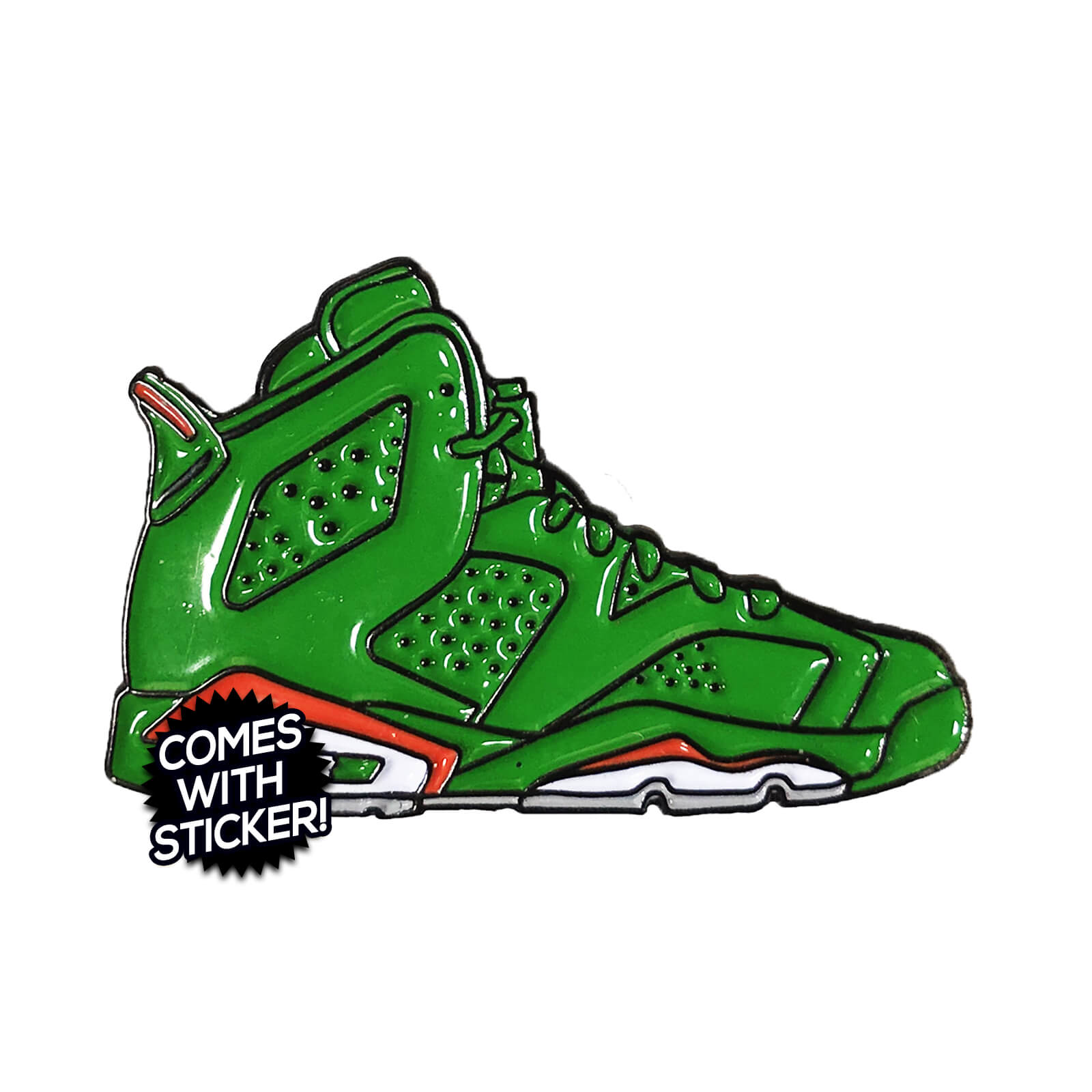 "Air Jordan 6 ""Gatorade Green"" Enamel Pin"