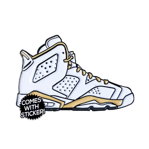 "Air Jordan 6 ""Golden Moments"" Enamel Pin"