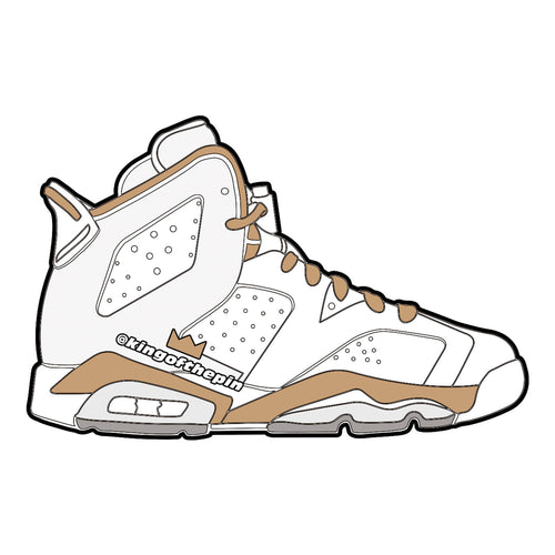 "Air Jordan 6 ""Golden Moments"" Sticker"