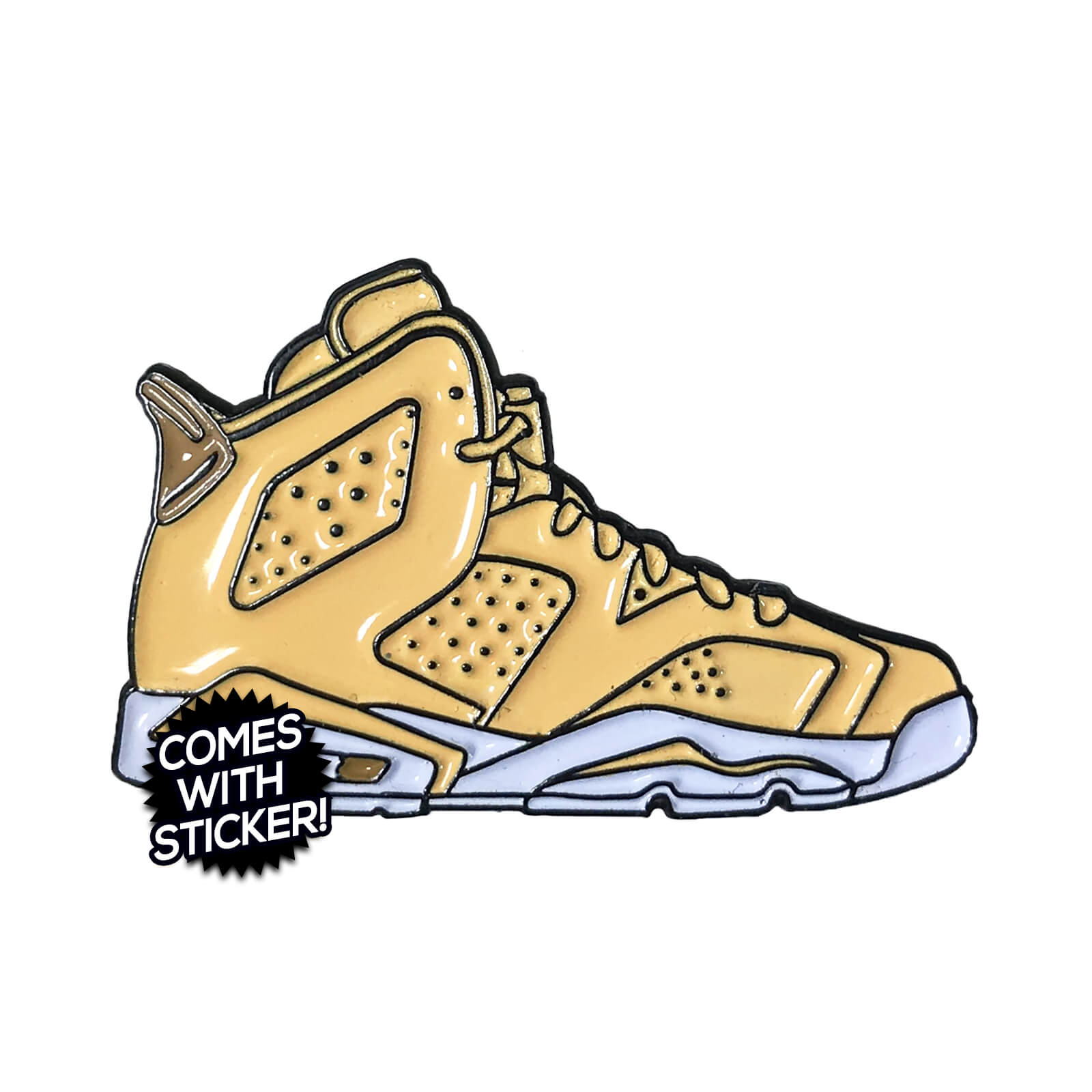 "Air Jordan 6 ""Golden Harvest"" Enamel Pin"
