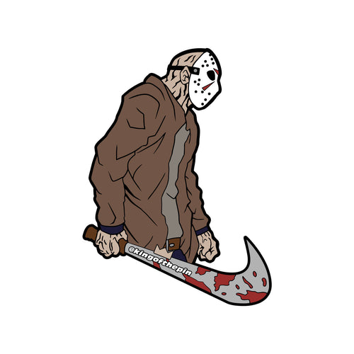 Just Kill Them (Jason Voorhees x Nike Mashup) Sticker