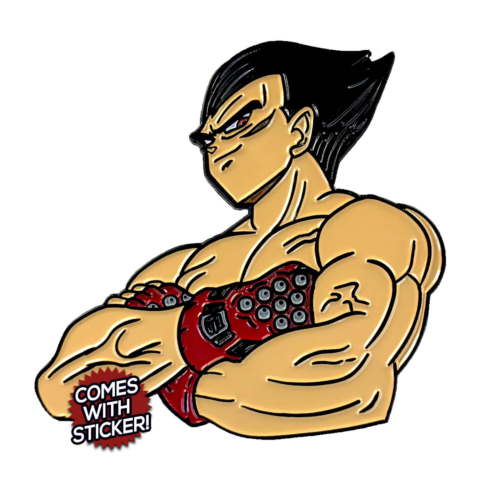 Kazugeta (Tekken x Dragon Ball) Enamel Pin