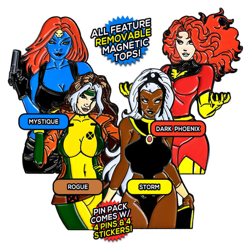 Ladies of the X-Men After Hours v1 (4 Pin) Pin Pack [Includes 4 FREE Stickers]