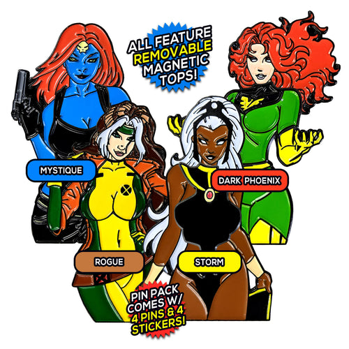 Ladies of the X-Men After Hours v2 (4 Pin) Pin Pack [Includes 4 FREE Stickers]