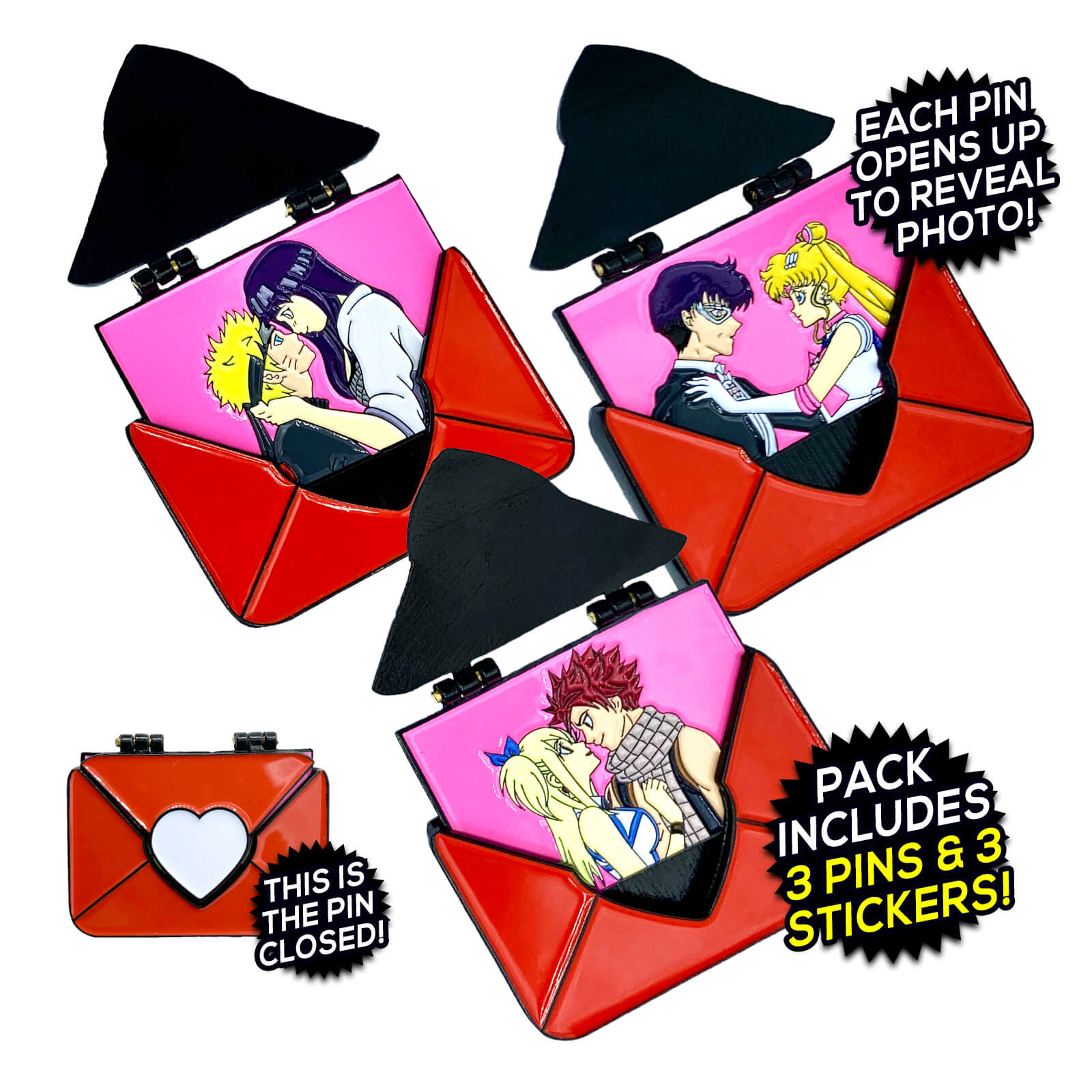 Love Letter (3 Pin) Pin Pack