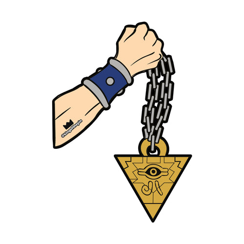 Millennium Puzzle Swinging Chain Sticker