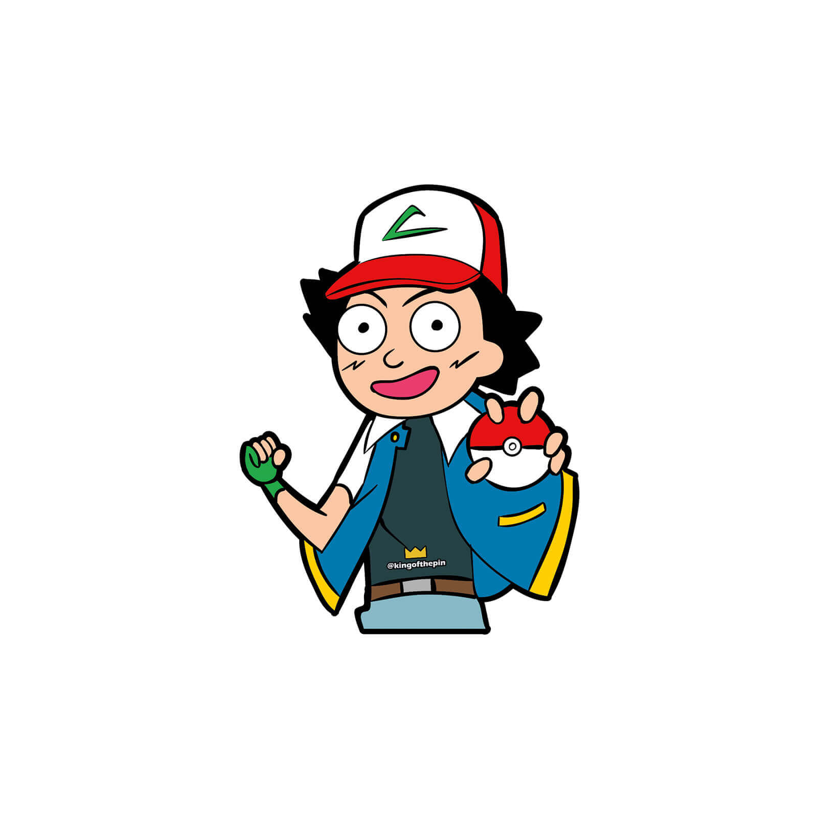 c308907da21 Morty Ketchum (Rick & Morty x Pokemon) Sticker – KingofthePin