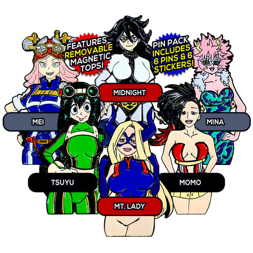 My Hero Academia After Hours (6 Pin) Pin Pack [Includes 6 FREE Stickers]