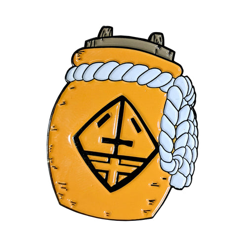 Kohaku no Jōhei Amber Purifying Pot Enamel Pin (Naruto Weapons v1)