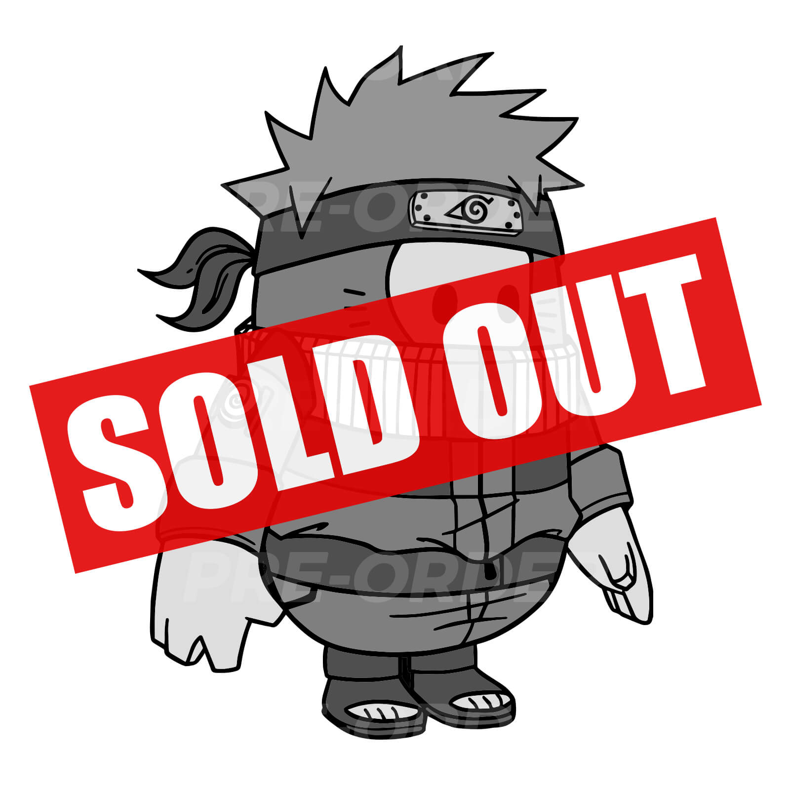 Naruto Fall Guy Enamel Pin