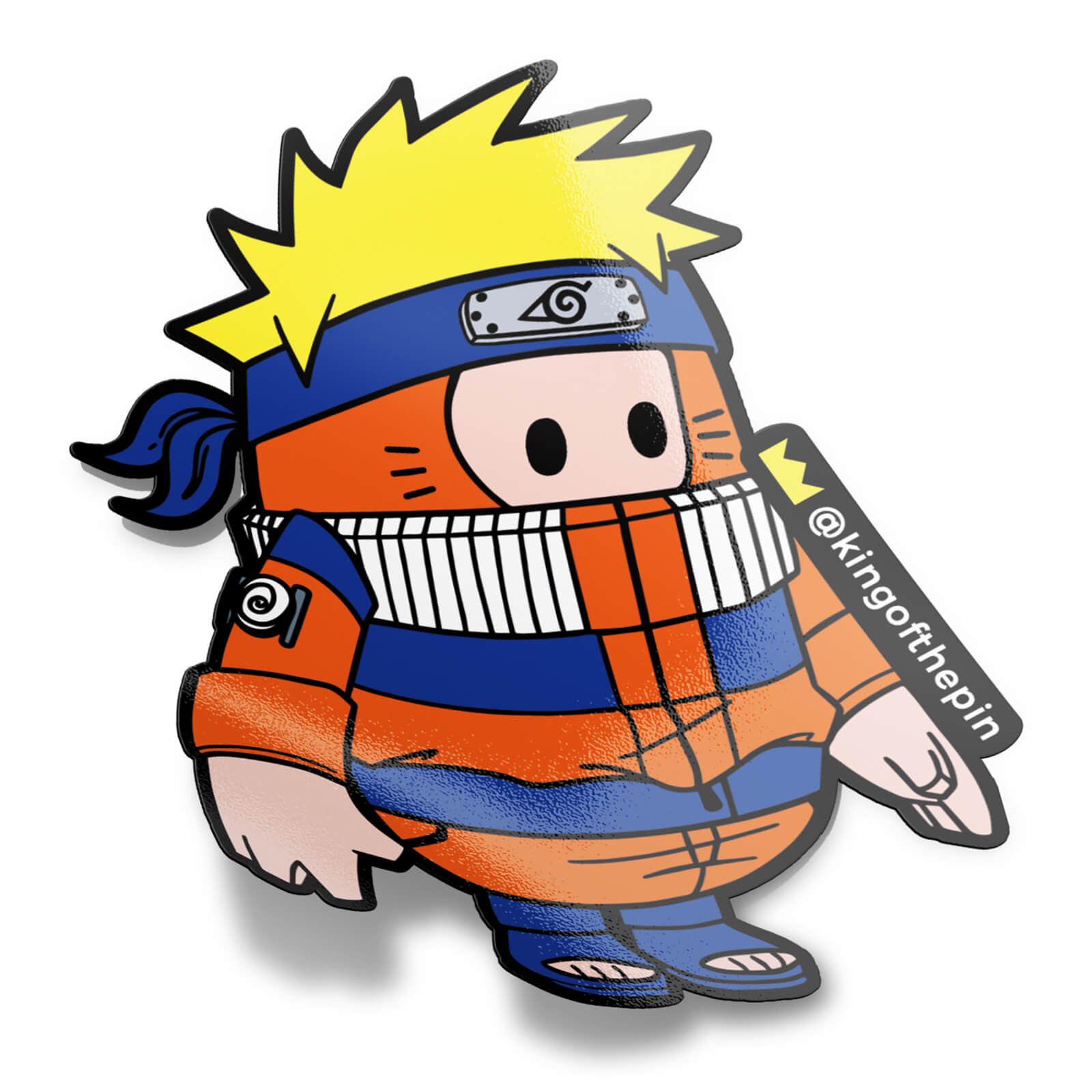 Naruto Fall Guy Sticker