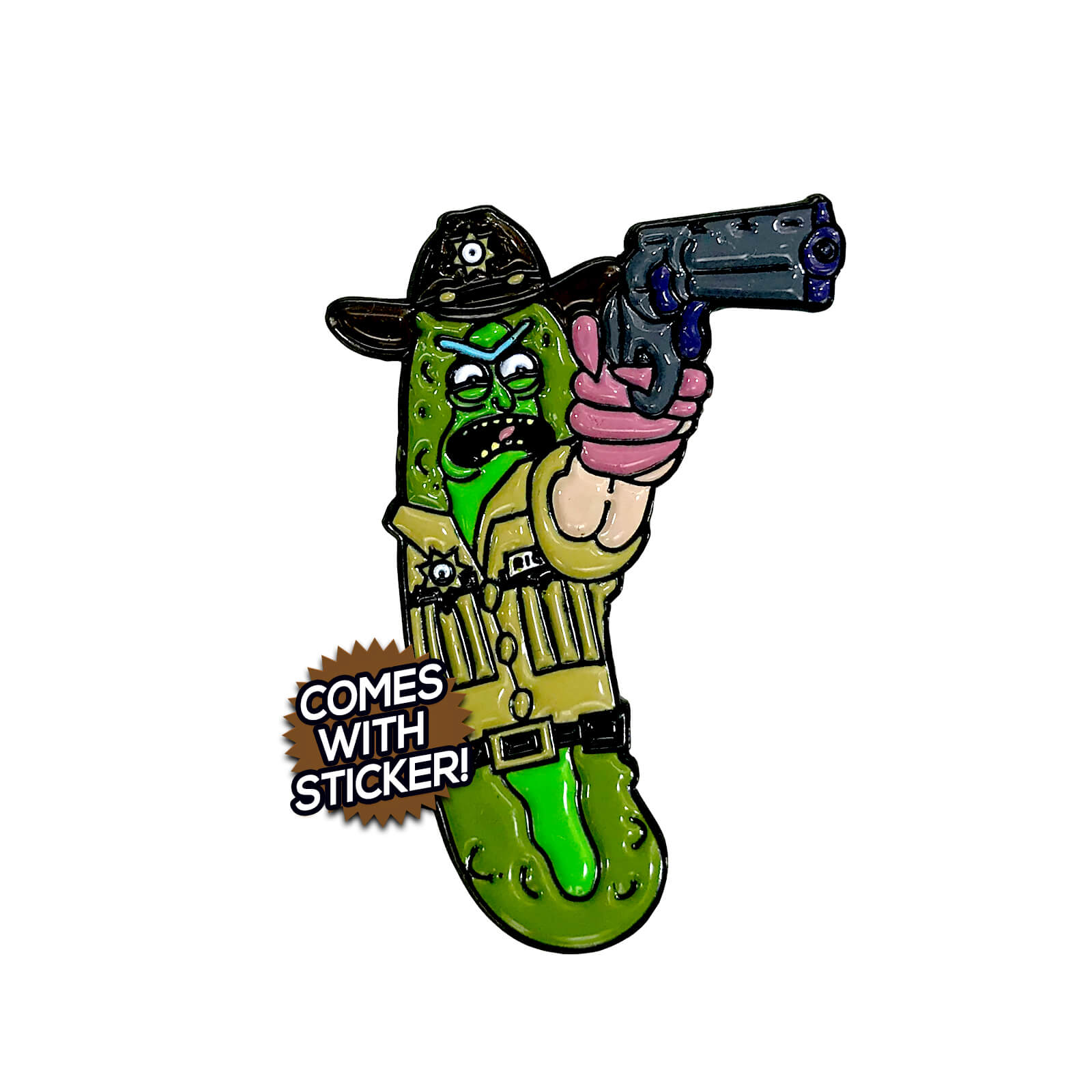 Pickle Rick Grimes Enamel Pin