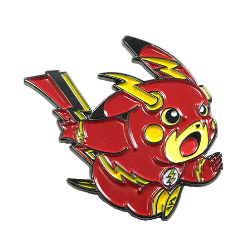 The PikaFlash Enamel Pin