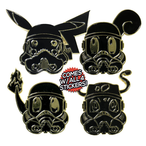 Poketrooper (4 Pin) [murdered] Enamel Pin Pack (includes 4 Free Stickers)