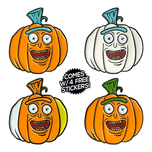 Pumpkin Rick (4 Pin) Full Pin Set