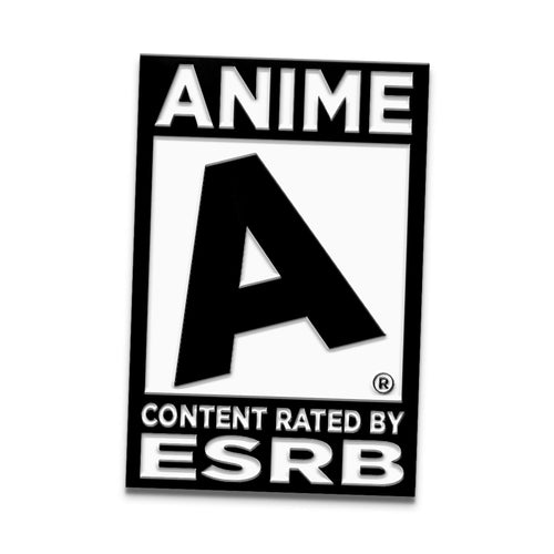 "Rated ""A"" for Anime Enamel Pin"