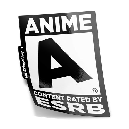"Rated ""A"" for Anime Sticker"