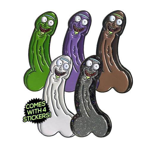 Dickle Rick (5 Pin) Enamel Pin Pack (includes 4 FREE Stickers)