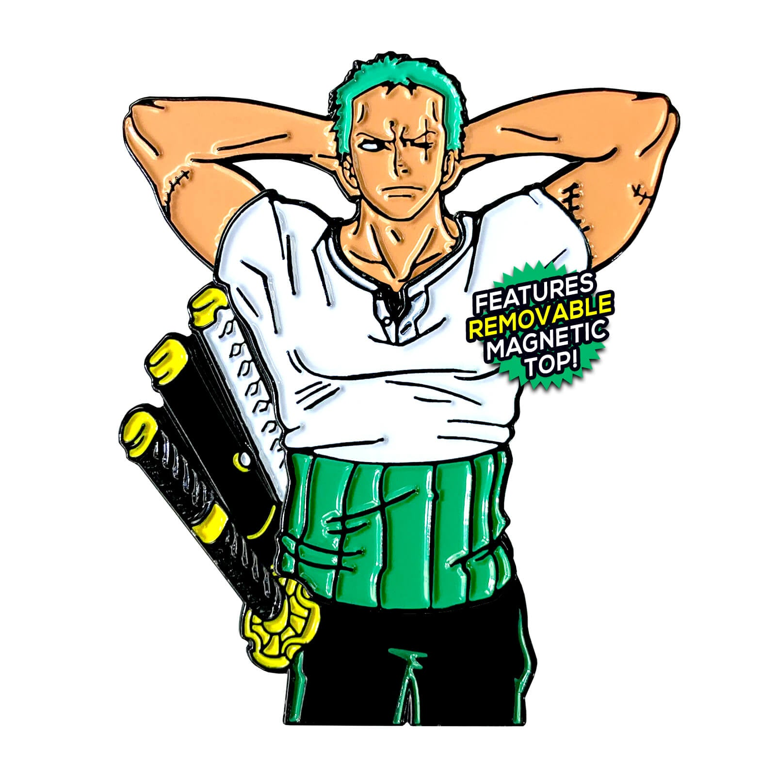 Roronoa Zoro (Shirtless Hero) Enamel Pin