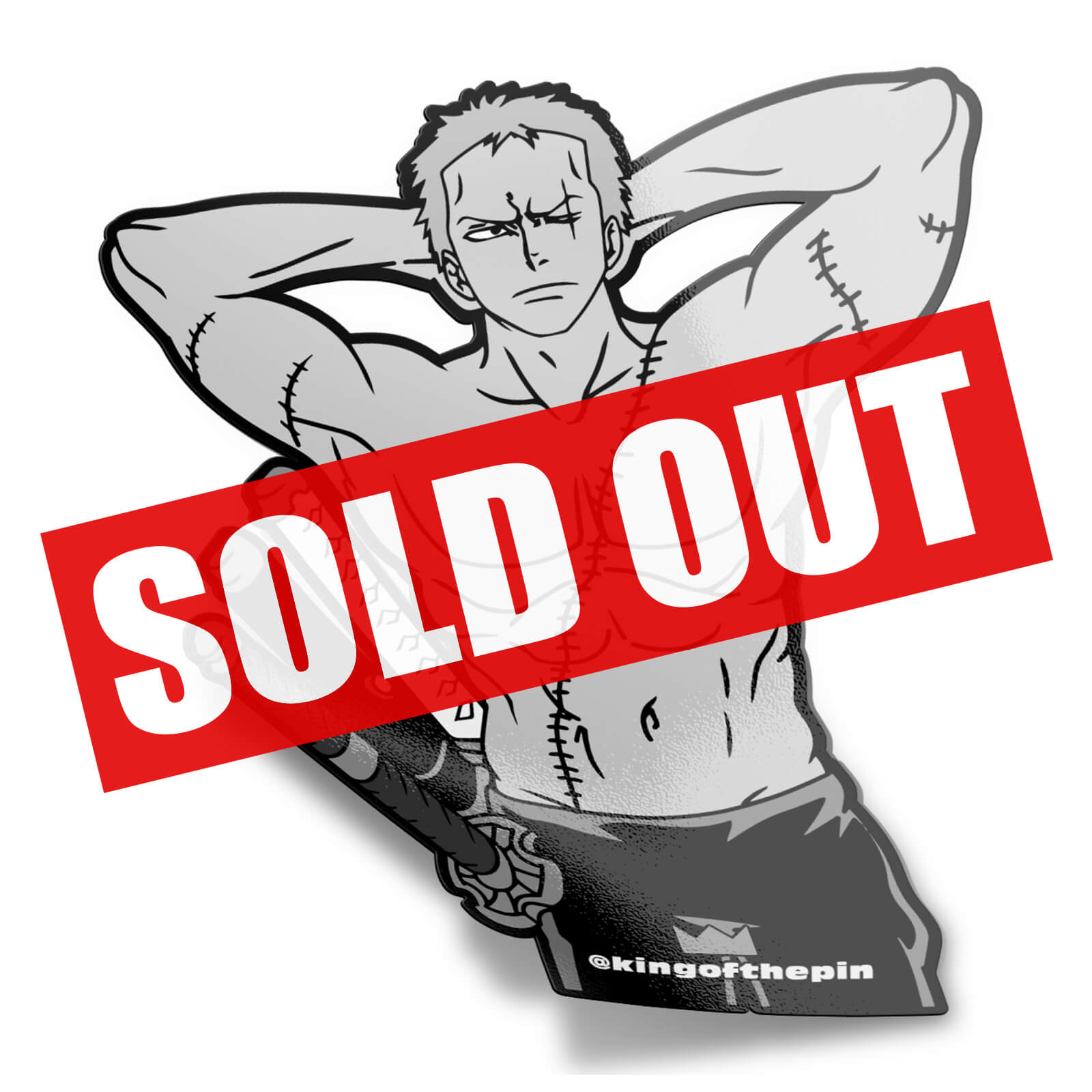 Roronoa Zoro (Shirtless Hero) Sticker