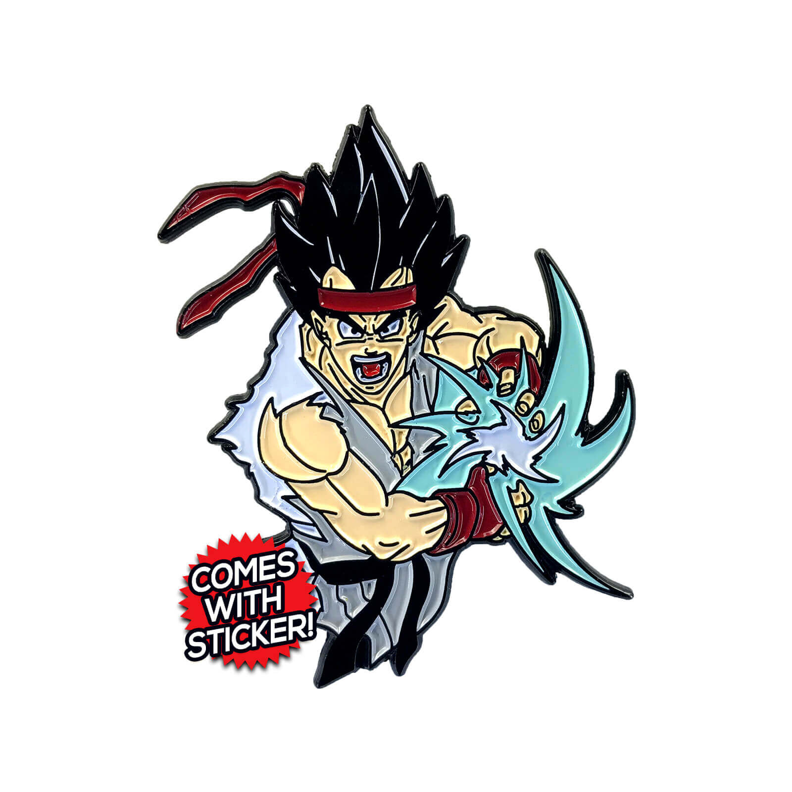 Rygeta (Street Fighter x Dragon Ball Z Mashup) Enamel Pin
