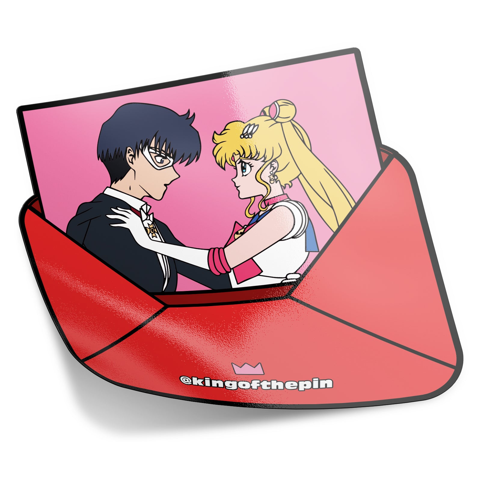 Sailor Moon & Tuxedo Mask Love Letter Sticker (Pre-Order)