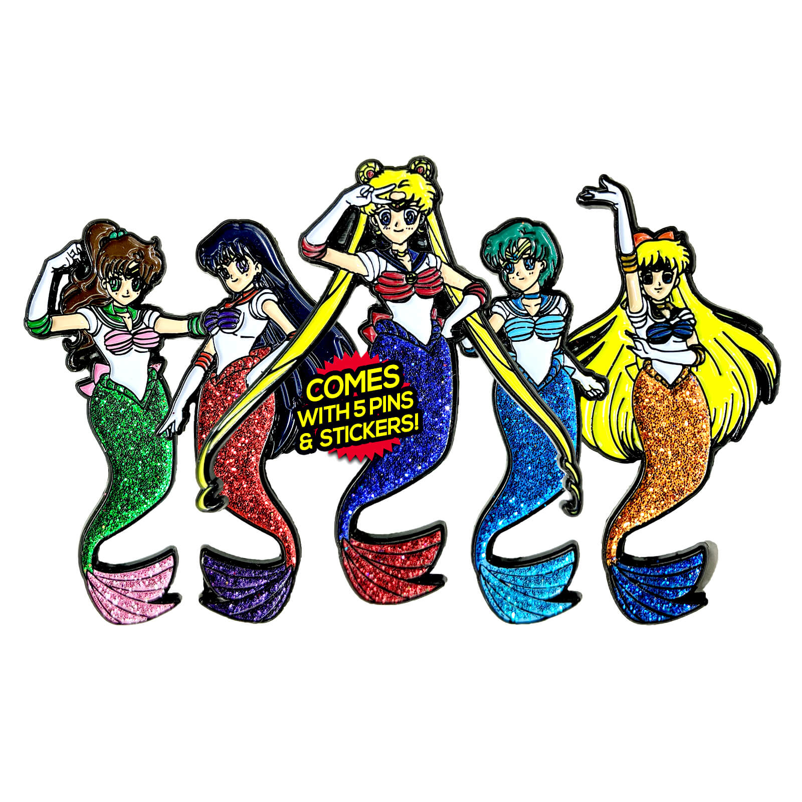 3436091ddf32 Sailormaid Enamel Pin Pack  Includes 5 Pins   5 FREE Stickers ...