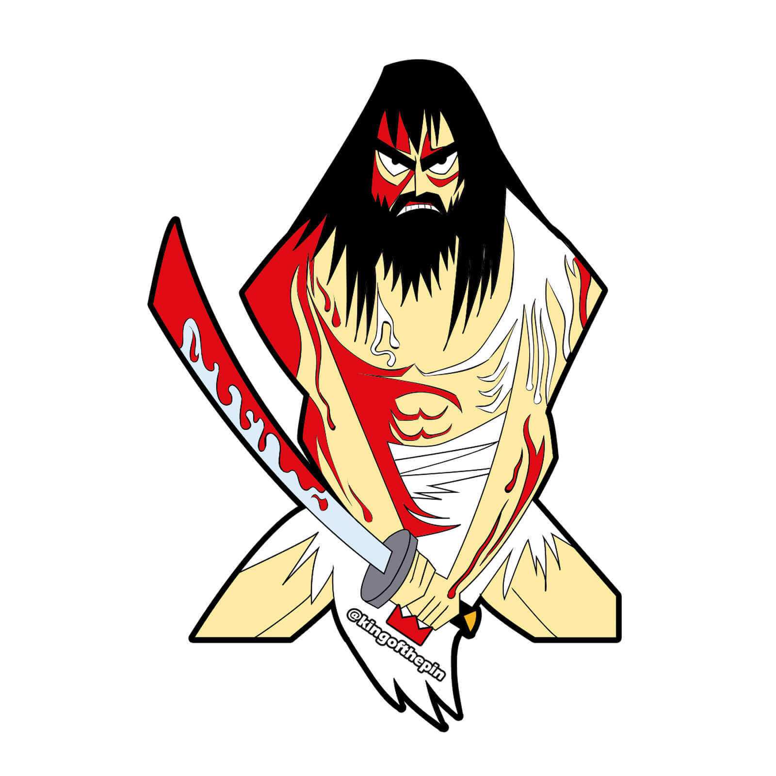 Samurai jack sticker kingofthepin