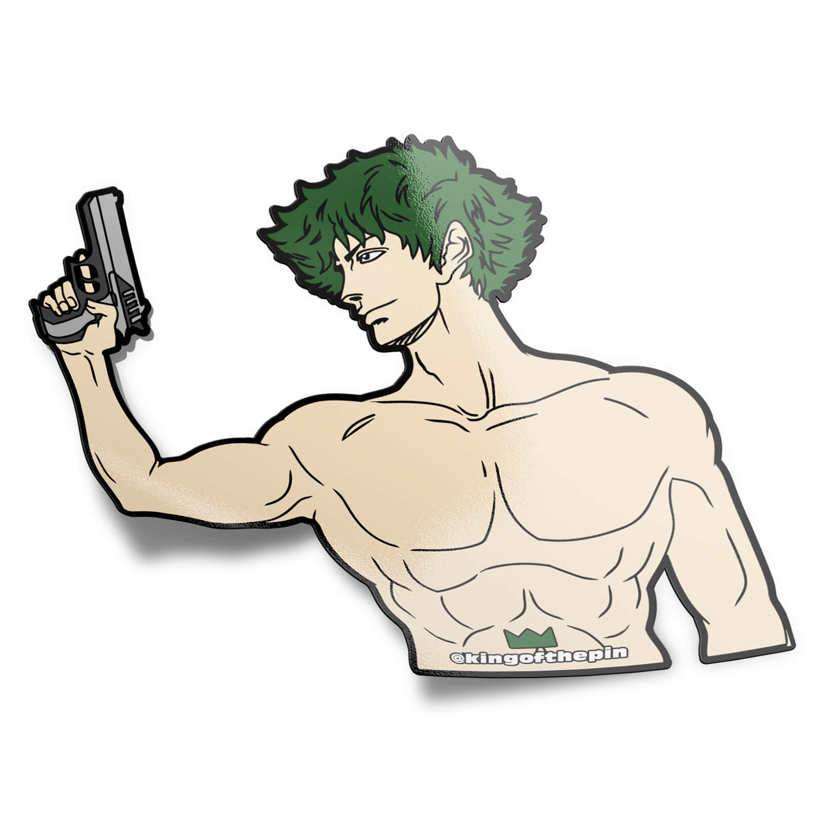 Spike Spiegel (Shirtless Hero) Sticker
