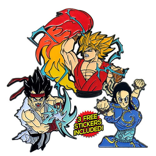 Street Fighter Z Enamel Pin Pack (includes 3 FREE Stickers)
