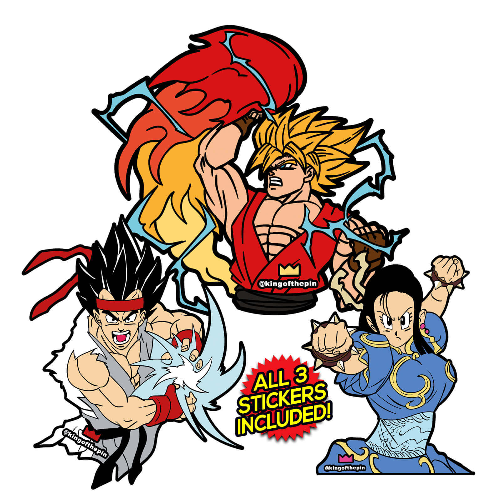 Street fighter z sticker pack includes all 3 stickers kingofthepin