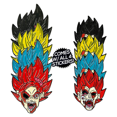 The Lost Saiyans (2 Pin) Enamel Pin Pack
