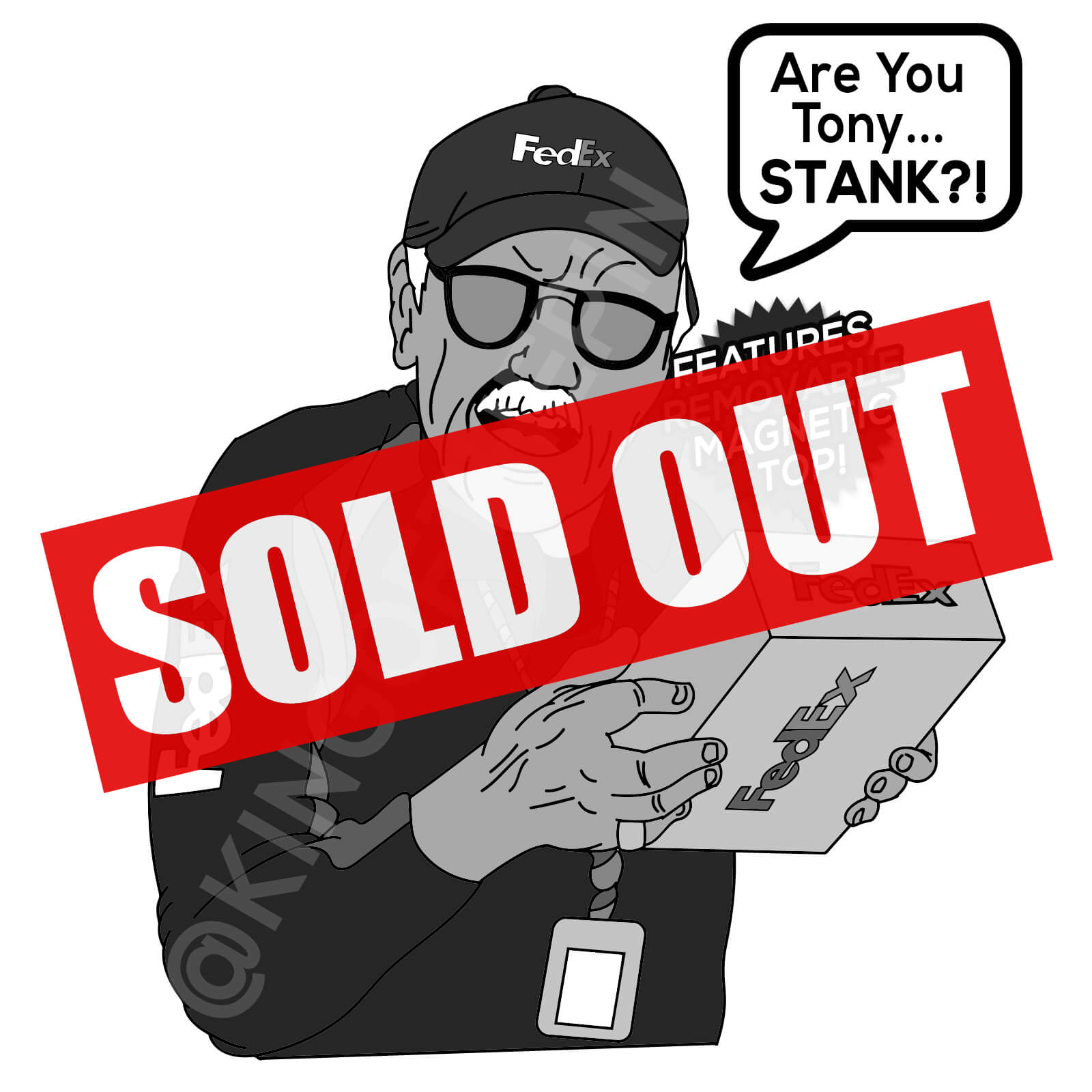 Tony Stank - Stan Lee Tribute Enamel Pin