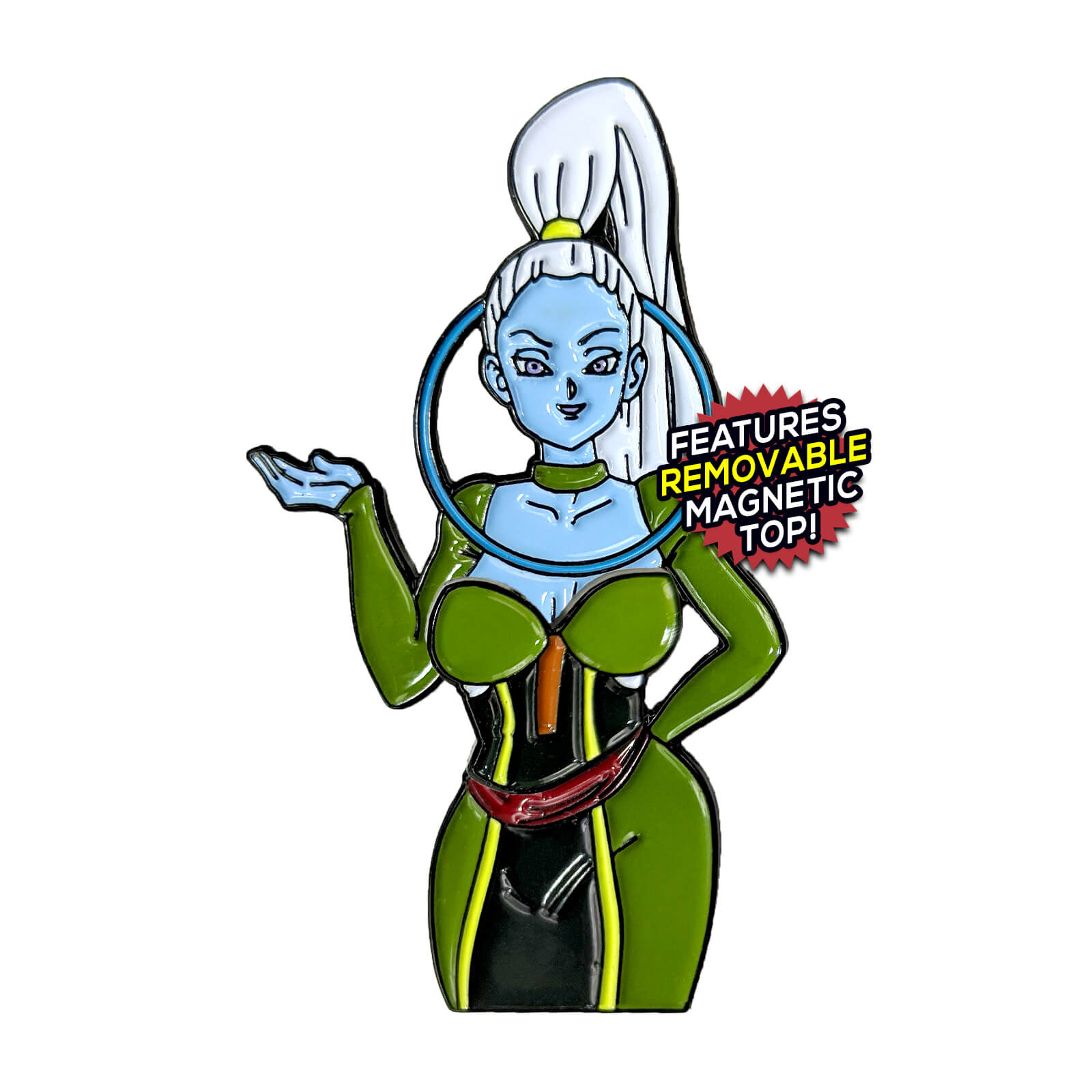 Vados Dragon Ball After Hours Enamel Pin Kingofthepin Com She is a daughter of the grand minister and the elder sister of whis. vados dragon ball after hours enamel pin