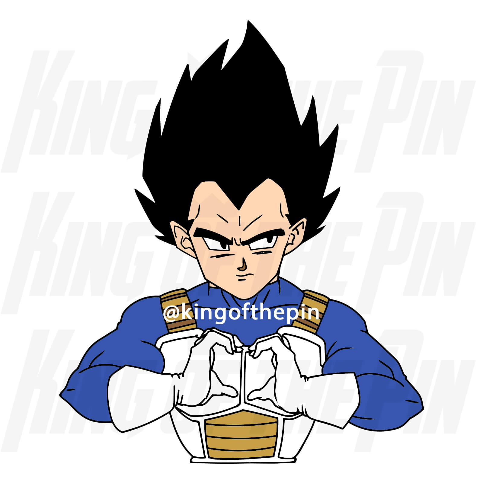 Vegeta - Do You Love Me? Enamel Pin
