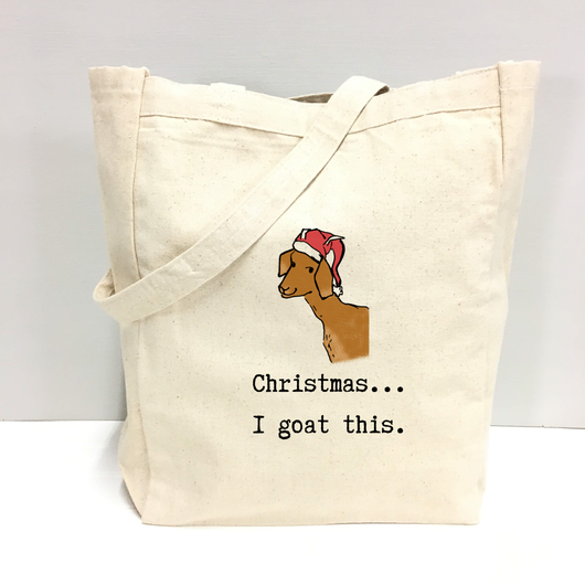 Christmas...I goat this - tote bag