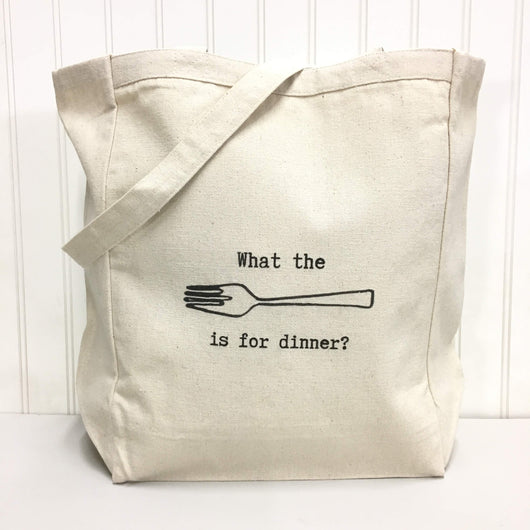 What the [fork] is for dinner? - tote bag