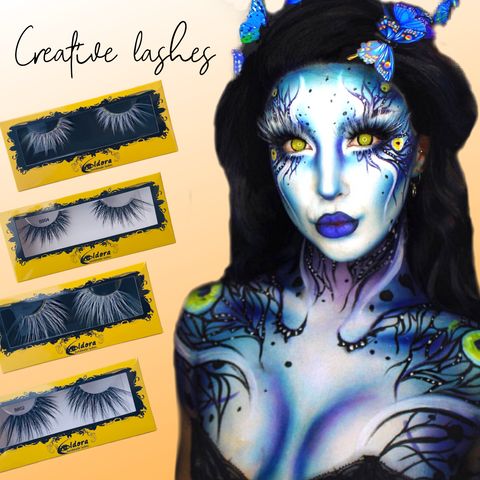 New Creative Black And White Eldora False Eyelashes