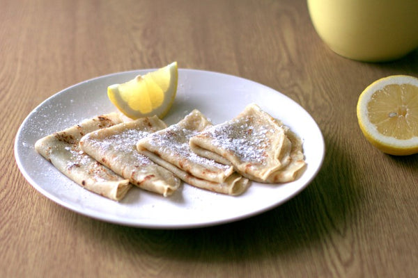 Traditional Sugar And Lemon Vegan Pancakes