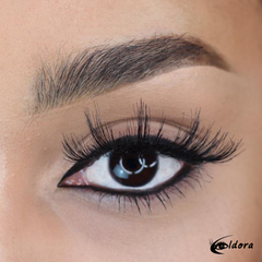 Eldora FM7 Faux Mink Vegan Lashes on model