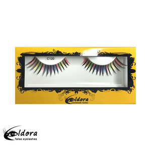 C120 Rainbow Coloured False Lashes