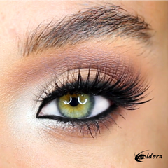 Eldora FM9 Faux Mink Vegan Lashes on model