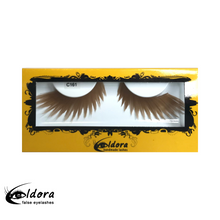 C161 Light Brown Coloured False Lashes