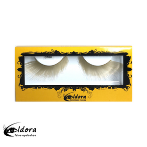 C160 Metallic Gold Coloured False Lashes