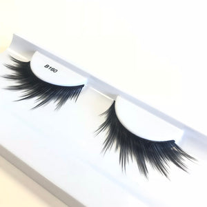 Spiky angled faux lashes