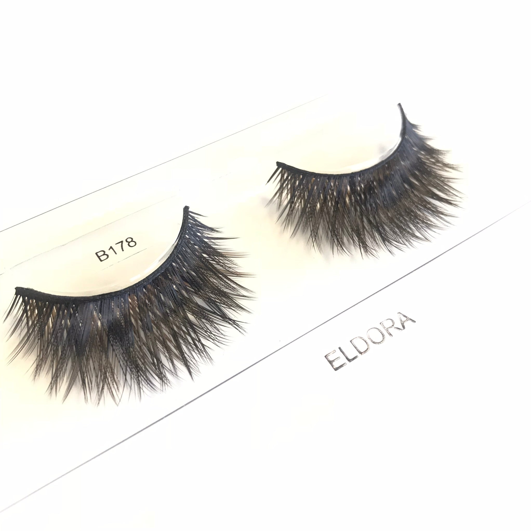 B178 Super Long Thick Full Faux Eyelashes Eldora Lashes