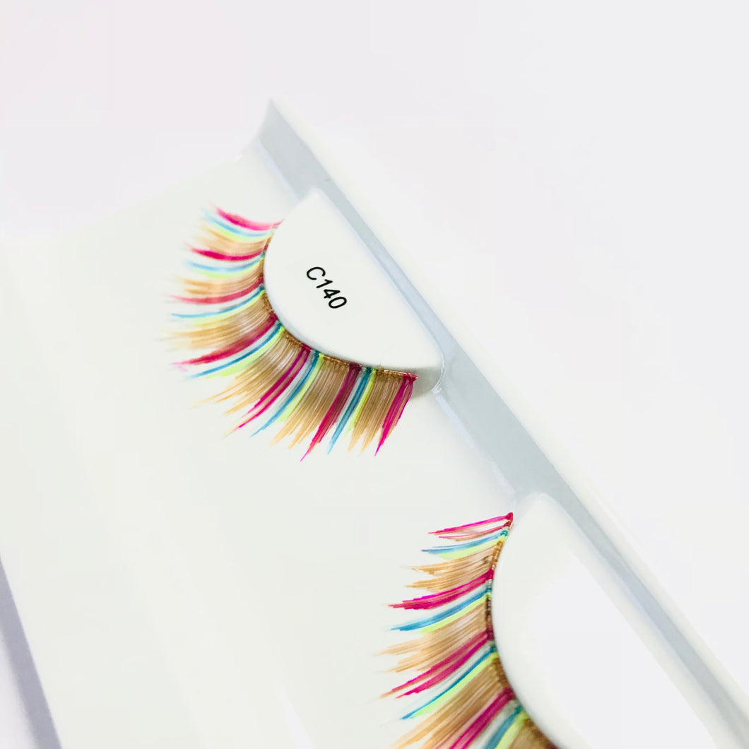 Rainbow False Eyelashes
