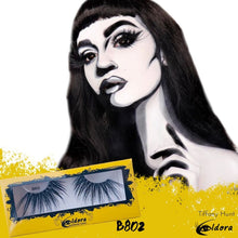 B802 Black Maxi-Crossed Creative False Eyelashes