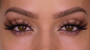 100% human hair fake eyelashes