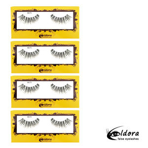 H173  Human Hair False Lashes Multipack